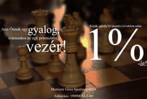 Maróczy Géza Sportegyesület Adó 1%